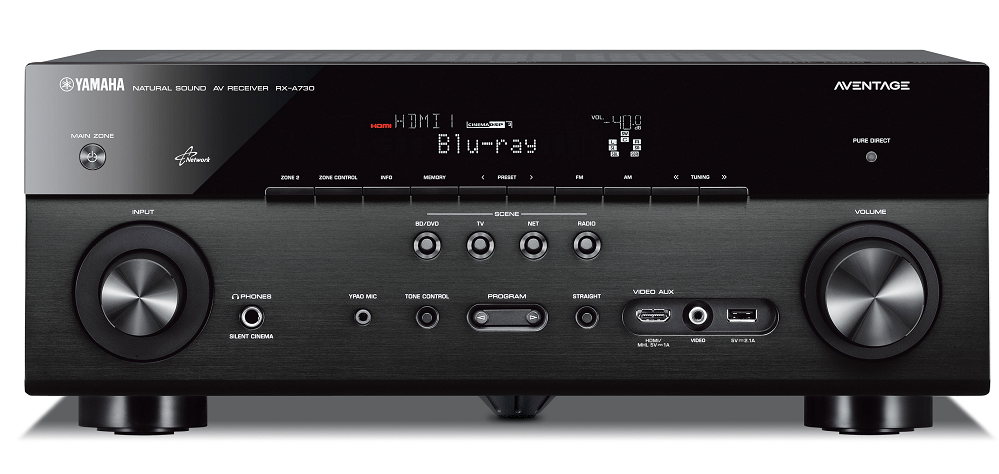 Yamaha rx a730 home theatre receiver the listening post for Yamaha home theater amplifier